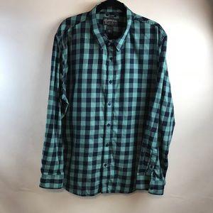 American rag 3x checker green gingham print